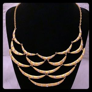 ALEXIS BITTAR ⚜️ Goldtone & Crystal Necklace